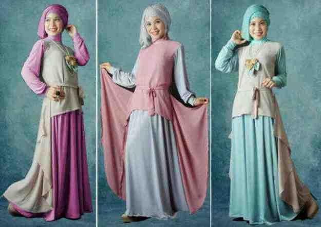 Celana rok muslimah dan jilbab pashmina 2014